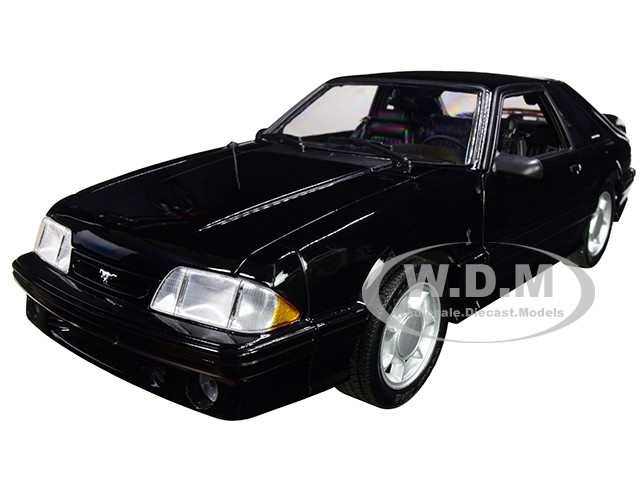 1993 Ford Mustang Cobra Black with Black Interior Limited Edition 750 pieces Worldwide 1/18 Diecast Model Car GMP 18921