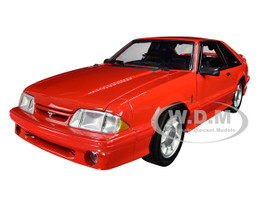 1993 Ford Mustang Cobra Red with Black Interior Limited Edition 798 pieces Worldwide 1/18 Diecast Model Car GMP 18922