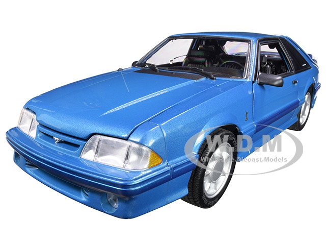 1993 Ford Mustang Cobra Teal Medium Blue-Green Black Interior Limited Edition 762 pieces Worldwide 1/18 Diecast Model Car GMP 18923