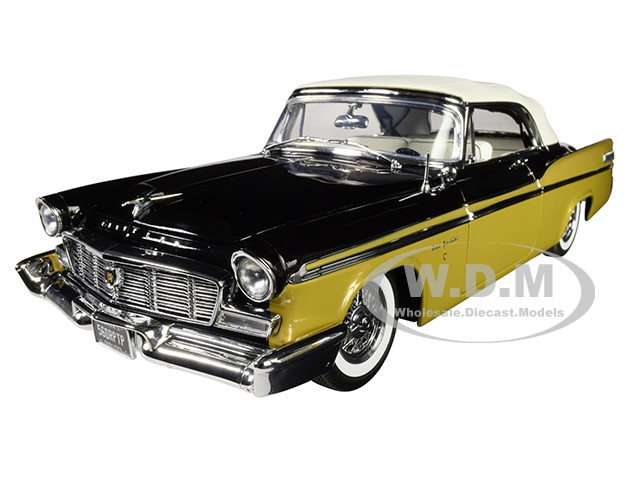 1956 Chrysler New Yorker St Regis Convertible Nugget Gold Raven Black White Top Limited Edition 558 pieces Worldwide 1/18 Diecast Model Car ACME A1809004