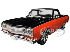 1965 Chevrolet El Camino Custom Not Your Mother's El Camino Red and Black Limited Edition 594 pieces Worldwide 1/18 Diecast Model Car ACME A1805410