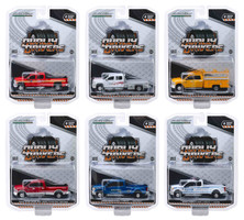 Dually Drivers Series 2 Set of 6 Trucks 1/64 Diecast Model Cars Greenlight 46020