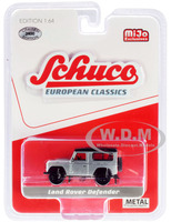 Land Rover Defender Silver European Classics Series Limited Edition 2400 pieces Worldwide 1/64 Diecast Model Car Schuco 8600