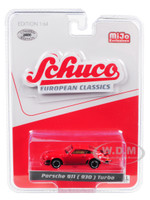 Porsche 911 930 Turbo Red European Classics Series Limited Edition 2400 pieces Worldwide 1/64 Diecast Model Car Schuco 8900