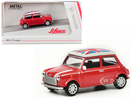Mini Cooper Union Jack Red 1/64 Diecast Model Car Schuco 452016700
