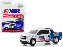 2019 Chevrolet Silverado Pickup Truck AMR IndyCar Safety Team Safety Equipment Truck Bed 1/64 Diecast Model Car Greenlight 30036