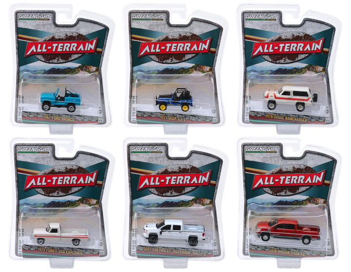 All Terrain Series 8 Set 6 pieces 1/64 Diecast Model Cars Greenlight 35130