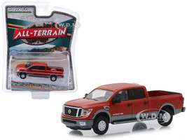 2018 Nissan Titan XD Platinum Pickup Truck Copper All Terrain Series 8 1/64 Diecast Model Car Greenlight 35130 F