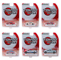 Tokyo Torque Series 6 Set 6 pieces 1/64 Diecast Model Cars Greenlight 47040