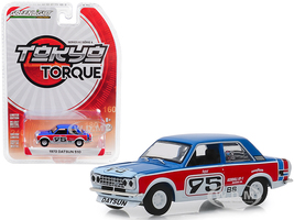 1973 Datsun 510 #95 Paul Newman Tokyo Torque Series 6 1/64 Diecast Model Car Greenlight 47040 D