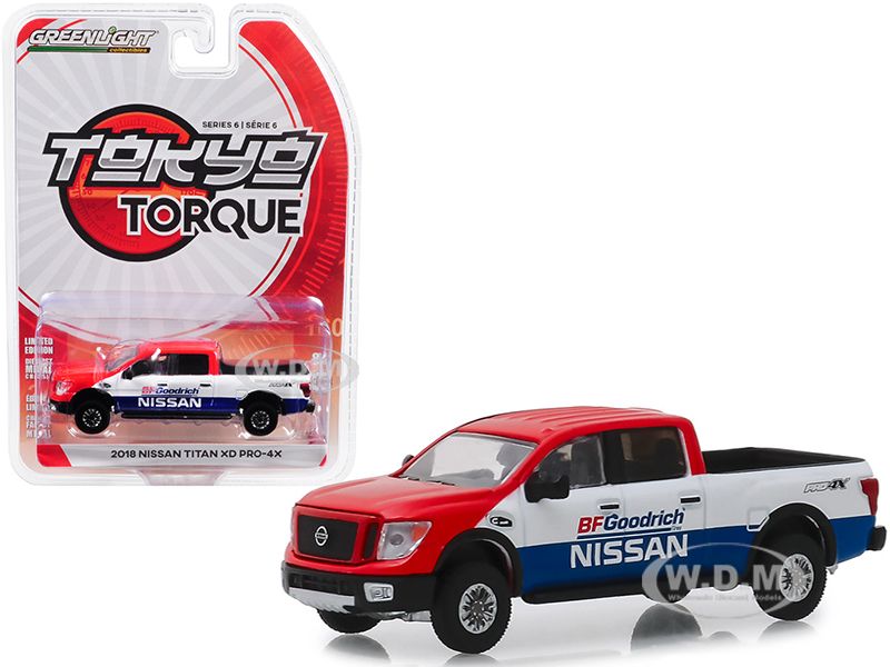 2018 Nissan Titan XD Pro-4X Pickup Truck BFGoodrich Nissan Baja Desert Tribute Tokyo Torque Series 6 1/64 Diecast Model Car Greenlight 47040 E