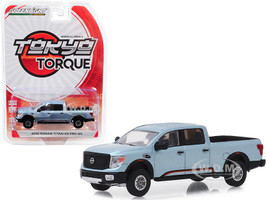 2018 Nissan Titan XD Pro-4X Pickup Truck Warrior Concept Truck Tribute Metallic Blue Steel Tokyo Torque Series 6 1/64 Diecast Model Car Greenlight 47040 F