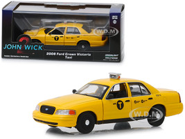 2008 Ford Crown Victoria NYC Taxi Yellow John Wick Chapter 2 2017 Movie 1/43 Diecast Model Car Greenlight 86561