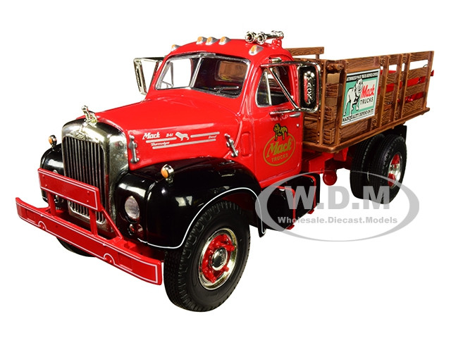 Mack B-61 Stake Bed Truck Two Kraft Boxes 1/34 Diecast Model First Gear 10-4171
