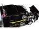 "Peterbilt Model 579 72"" Mid Roof Sleeper 53' Utility Roll Tarp Spread Axle Trailer TanTara Transportation Corp Black 1/64 Diecast Model DCP First Gear 60-0479"