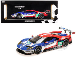 Ford GT #68 Sebastien Bourdais Joey Hand Dirk Muller Winners LMGTE PRO Le Mans 24 Hours 2016 Ford Chip Ganassi Racing USA Limited Edition 1002 pieces Worldwide 1/18 Diecast Model Car Minichamps 155168668