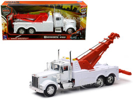 Kenworth W900 Wrecker Tow Truck White 1/32 Diecast Model New Ray 10873 A
