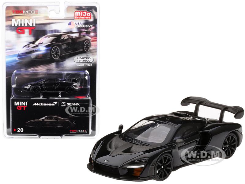 McLaren Senna Onyx Black Limited Edition 3600 pieces Worldwide 1/64 Diecast Model Car True Scale Miniatures MGT00020