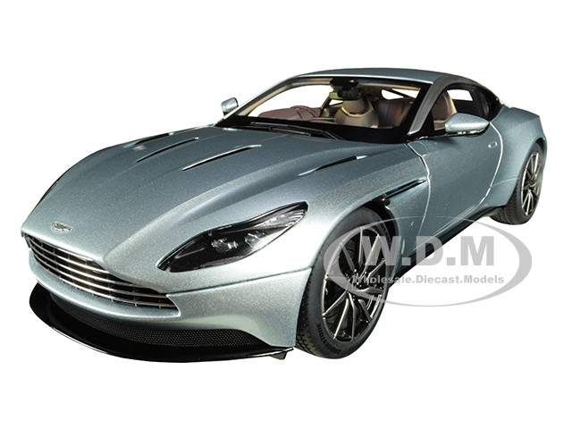 Aston Martin DB11 RHD Right Hand Drive Skyfall Silver Blue Metallic 1/18 Model Car Autoart 70267