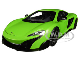 McLaren 675LT Napier Green Black Wheels 1/18 Model Car Autoart 76049