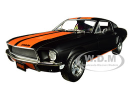 1968 Ford Mustang GT Fastback FRAM Oil Filters Black Orange Stripes 1/24 Diecast Model Car Greenlight 18253