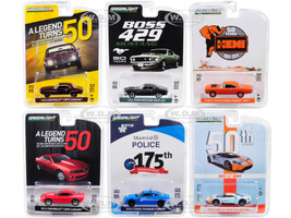 Greenlight Anniversary Collection Series 8 6 piece Set 1/64 Diecast Model Cars Greenlight 27980