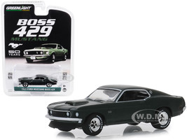 1969 Ford Mustang Boss 429 50th Anniversary Dark Green Anniversary Collection Series 8 1/64 Diecast Model Car Greenlight 27980 B