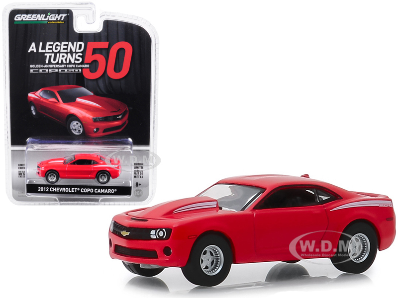 2012 Chevrolet COPO Camaro COPO Turns 50 Red Anniversary Collection Series 8 1/64 Diecast Model Car Greenlight 27980 D