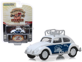 Classic Volkswagen Beetle Roof Rack White Save Water Busted Knuckle Garage Series 1 1/64 Diecast Model Car Greenlight 39010 F