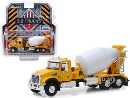 2019 Mack Granite Cement Mixer Yellow White SD Trucks Series 7 1/64 Diecast Model Greenlight 45070 B