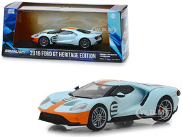 2019 Ford GT #9 Heritage Edition Gulf Oil Color Scheme 1/43 Diecast Model Car Greenlight 86159