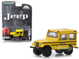 1974 Jeep DJ-5 School Bus Yellow Hobby Exclusive 1/64 Diecast Model Car Greenlight 30065