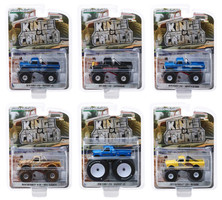 Kings of Crunch Series 4 Set 6 Monster Trucks 1/64 Diecast Model Cars Greenlight 49040