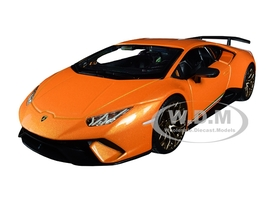 Lamborghini Huracan Performante Metallic Orange 1/24 Diecast Model Car Bburago 21092
