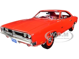 1969 Dodge Charger R/T Charger Red Red Interior Class of 1969 Limited Edition 1002 pieces Worldwide 1/18 Diecast Model Car Autoworld AMM1174