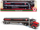 Texaco Gasoline Tanker Truck Driving Performance Black 1/43 Diecast Model Autoworld CP7595