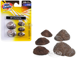 Dirt and Gravel Piles 5 piece Accessory Set for 1/87 HO Scale Models Classic Metal Works 20227