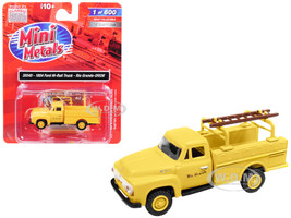 1954 Ford Hi-Rail Truck Rio Grande DRGW Yellow Accessories 1/87 HO Scale Model Classic Metal Works 30540