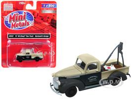 1941 1946 Chevrolet Tow Truck Harmond's Garage Black Cream 1/87 HO Scale Model Car Classic Metal Works 30552