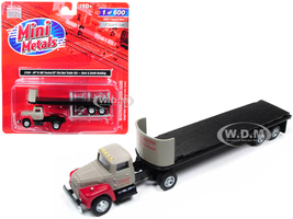 IH R-190 Tractor Truck with 32' Flatbed Trailer Breir & Smith Building 1/87 HO Scale Model Classic Metal Works 31184