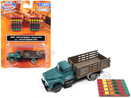 1954 Ford Stake Bed Truck Ferguson Farm with Fruit Vegetable Crates 1/87 HO Scale Model Classic Metal Works 40000