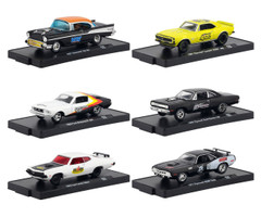 Drivers 6 Cars Set Release 59 Blister Packs 1/64 Diecast Model Cars M2 Machines 11228-59
