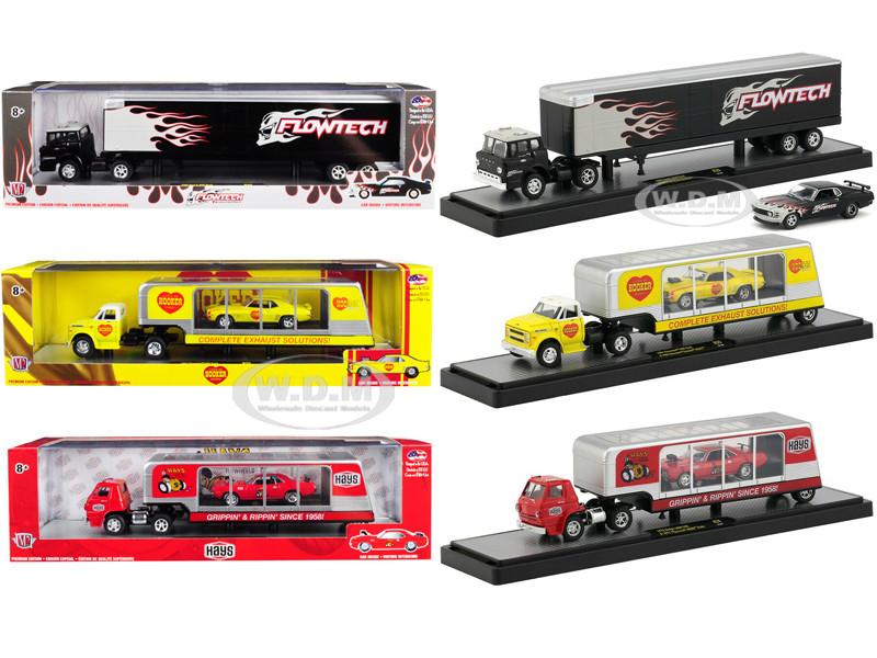 Auto Haulers Release 35 Set 3 Trucks Limited Edition 5800 pieces Worldwide 1/64 Diecast Models M2 Machines 36000-35