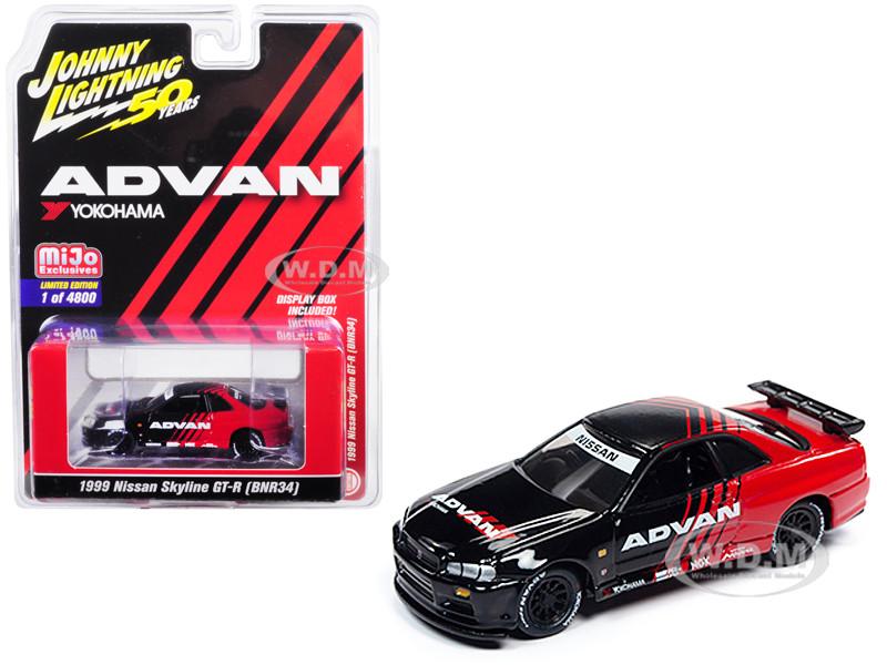 1999 Nissan Skyline GT-R BNR34 ADVAN Yokohama Johnny Lightning 50th Anniversary Limited Edition 4800 pieces Worldwide 1/64 Diecast Model Car Johnny Lightning JLCP7217
