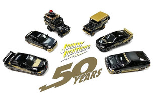 6 piece Set Johnny Lightning 50th Anniversary Limited Edition 2400 pieces Worldwide 1/64 Diecast Models Johnny Lightning JLCP7197