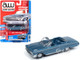 1962 Chevrolet Impala SS Convertible Silver Blue Metallic Vintage Muscle Limited Edition 5480 pieces Worldwide 1/64 Diecast Model Car Autoworld 64222 CP7596