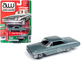 1964 Ford Galaxie 500 XL Silver Smoke Gray Metallic Vintage Muscle Limited Edition 5240 pieces Worldwide 1/64 Diecast Model Car Autoworld 64222 CP7603
