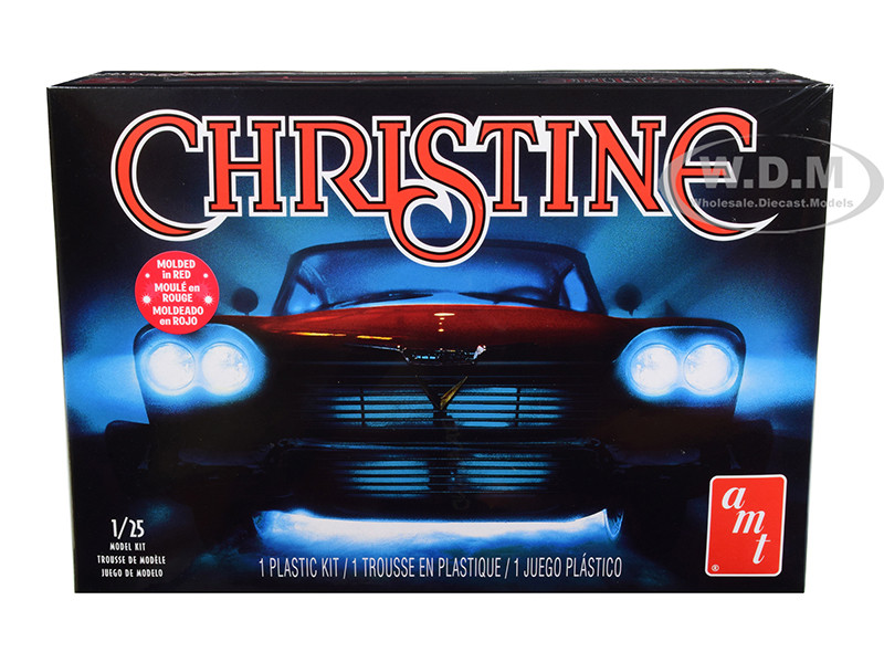 Skill 2 Model Kit 1958 Plymouth Fury Christine 1983 Movie 1/25 Scale Model AMT AMT801 M