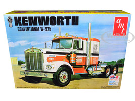 Skill 3 Model Kit Kenworth Conventional W-925 Tractor 1/25 Scale Model AMT AMT1021