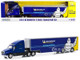 2018 Kenworth T2000 Transporter Blue Michelin Competition Hobby Exclusive 1/64 Diecast Model Greenlight 30056
